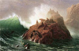 Seal Rock, c.1873/75 by Bierstadt | Painting Reproduction