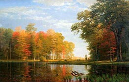 Autumn Woods, 1886 by Bierstadt | Painting Reproduction