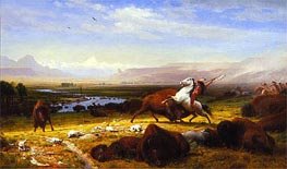 The Last of the Buffalo, 1888 by Bierstadt | Painting Reproduction