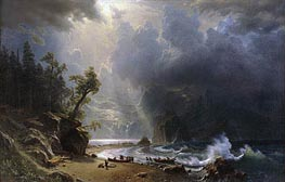 Puget Sound on the Pacific Coast, 1870 by Bierstadt | Painting Reproduction
