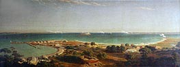 Bombardment of Fort Sumter, 1861 by Bierstadt | Painting Reproduction