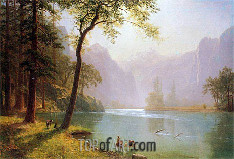 Kern River Valley California, 1871 | Bierstadt | Gemälde Reproduktion