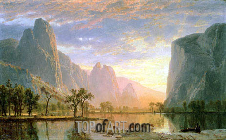 Valley of the Yosemite, 1864 | Bierstadt| Painting Reproduction