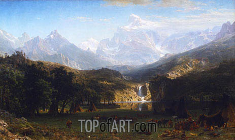 The Rocky Mountains, Lander's Peak, 1863 | Bierstadt| Gemälde Reproduktion