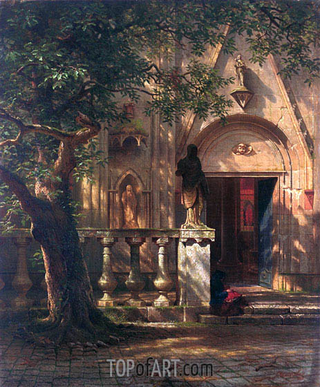 Sunlight and Shadow, 1862 | Bierstadt| Painting Reproduction