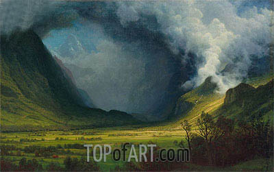 Storm in the Mountains, c.1870 | Bierstadt | Gemälde Reproduktion