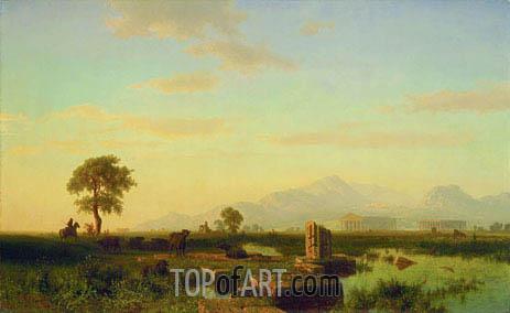 Bierstadt | Ruins of Paestum, 1858