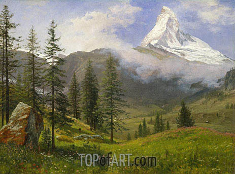 The Matterhorn, c.1867 | Bierstadt| Painting Reproduction
