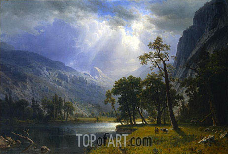 Yosemite Valley, 1866 | Bierstadt| Painting Reproduction