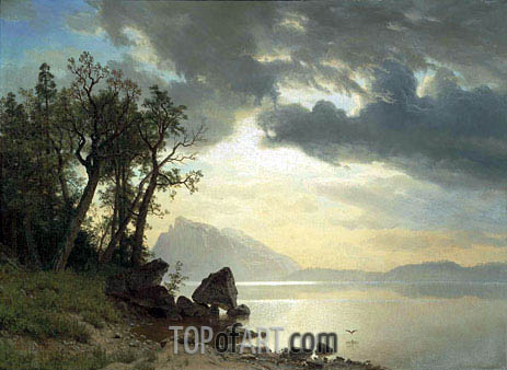 Lake Tahoe, California, 1867 | Bierstadt | Painting Reproduction