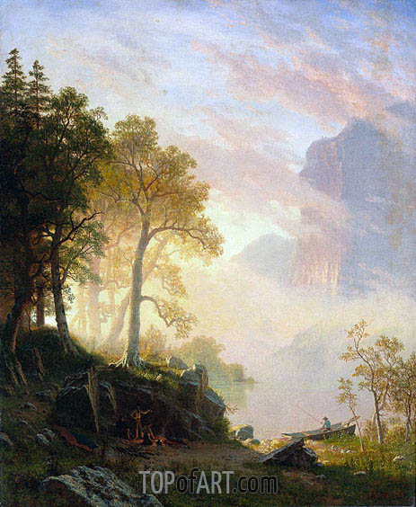 The Merced River in Yosemite, 1868 | Bierstadt| Painting Reproduction