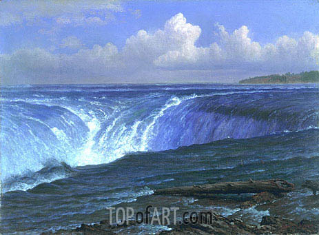 Niagara Falls, 1869 | Bierstadt| Painting Reproduction