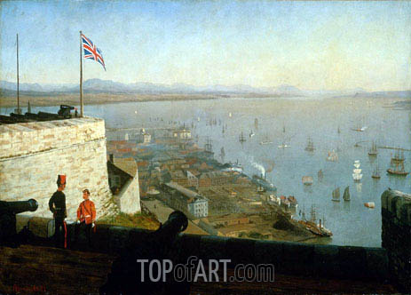 St. Lawrence River from the Citadel, Quebec, c.1880 | Bierstadt | Painting Reproduction