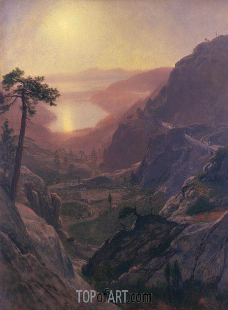 View of Donner Lake, California, c.1871/72 | Bierstadt| Painting Reproduction