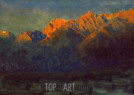 Sunrise in the Sierras, c.1872 | Bierstadt | Painting Reproduction