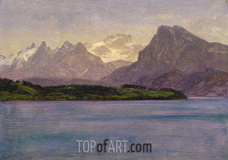 Alaskan Coast Range, c.1889 | Bierstadt | Painting Reproduction