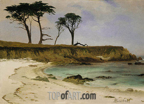 Sea Cove, c.1880/90 | Bierstadt | Painting Reproduction