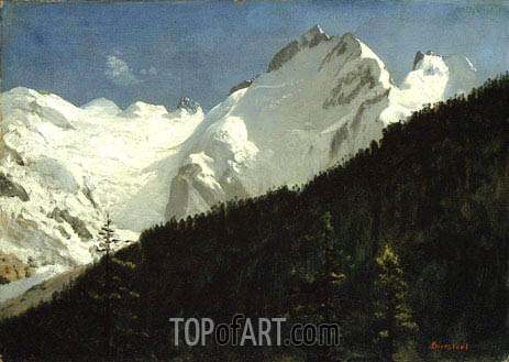 Piz Bernina, Switzerland, undated | Bierstadt | Painting Reproduction