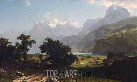 Lake Lucerne, 1858 | Bierstadt | Painting Reproduction