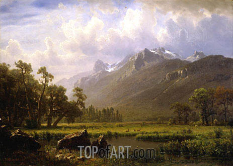 Bierstadt | The Sierras Near Lake Tahoe, California, 1865
