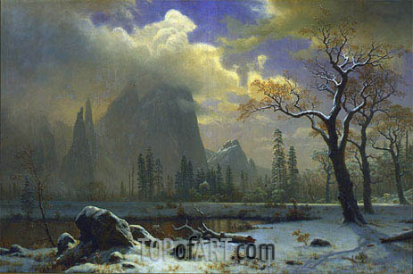 Yosemite Winter Scene, 1872 | Bierstadt | Painting Reproduction