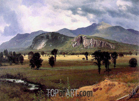 Moat Mountain, Intervale, New Hampshire, c.1862 | Bierstadt | Gemälde Reproduktion