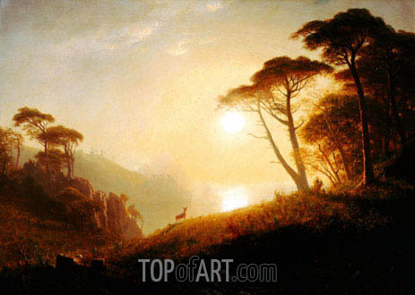 Scene in Yosemite Valley, c.1864/74 | Bierstadt| Painting Reproduction