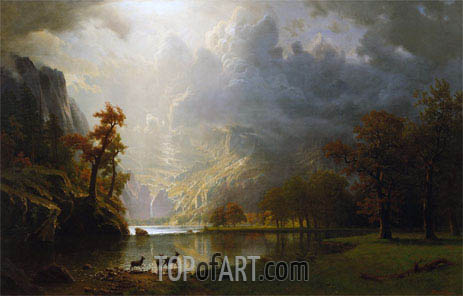 Sierra Navada Morning, undated | Bierstadt | Painting Reproduction