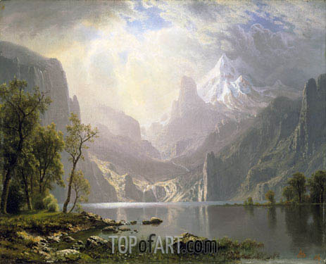 In the Sierras, 1868 | Bierstadt| Gemälde Reproduktion