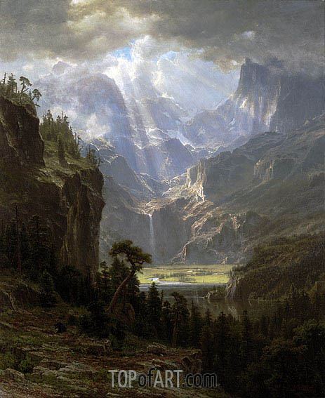 Rocky Mountains, Lander's Peak, 1863 | Bierstadt | Painting Reproduction