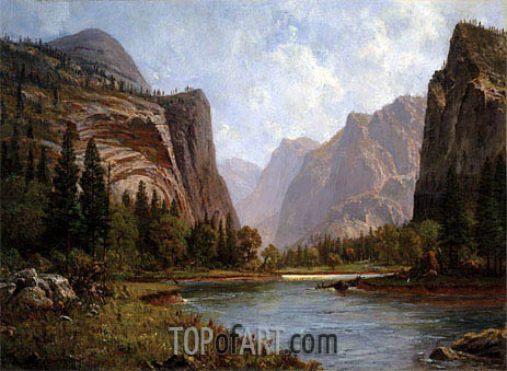 Bierstadt | Gates of the Yosemite, c.1882