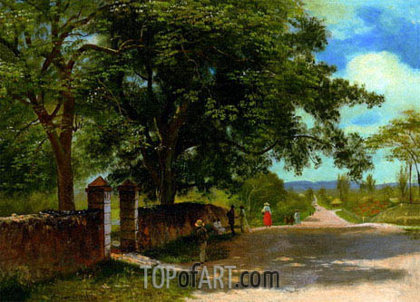 Street in Nassau, undated | Bierstadt | Painting Reproduction