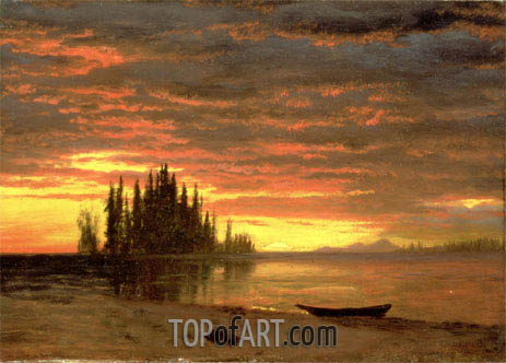 California Sunset, undated | Bierstadt | Gemälde Reproduktion