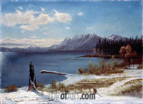 Lake Tahoe, undated | Bierstadt | Painting Reproduction