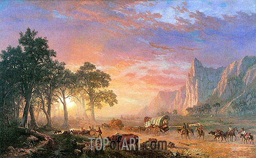 Der Oregon Trail, 1869 | Bierstadt | Gemälde Reproduktion
