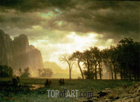 Bierstadt | Passing Storm in Yosemite, 1865