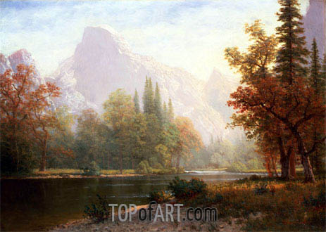 Half Dome, Yosemite, undated | Bierstadt | Painting Reproduction