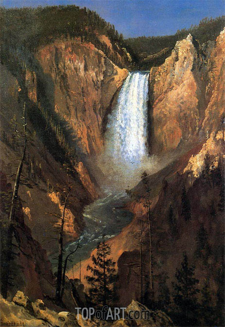 Bierstadt | Lower Yellowstone Falls, 1881