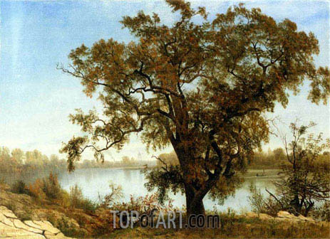 A View from Sacramento, c.1875 | Bierstadt | Painting Reproduction