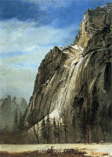 Cathedral Rocks, A Yosemite View, c.1872 | Bierstadt | Gemälde Reproduktion