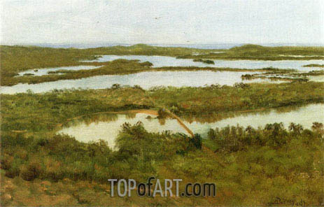A River Estuary, undated | Bierstadt | Painting Reproduction