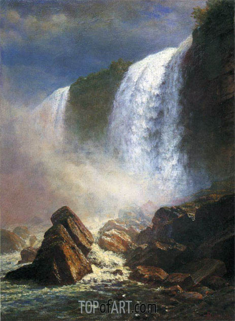Falls of Niagara from Below, undated | Bierstadt | Gemälde Reproduktion