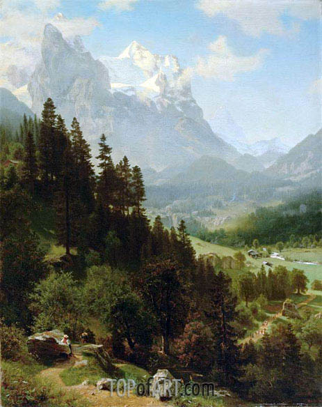 The Wetterhorn, Mch 15th, | Bierstadt | Gemälde Reproduktion