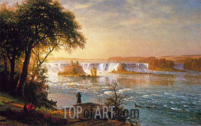 The Falls of St. Anthony, c.1880/87 | Bierstadt | Gemälde Reproduktion