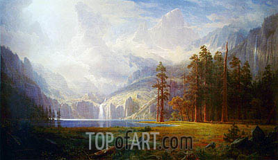 Mount Whitney - Grandeur of the Rockies, c.1877 | Bierstadt | Gemälde Reproduktion