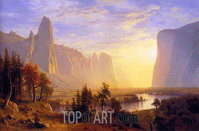 Yosemite Valley, 1868 | Bierstadt | Gemälde Reproduktion