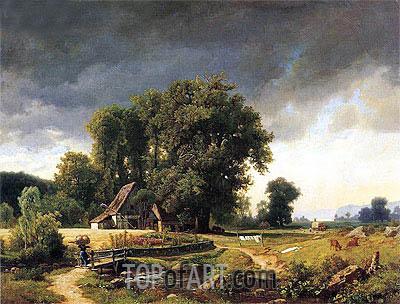 Bierstadt | Westphalian Landscape, 1855