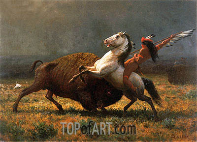 The Last of the Buffalo, 1888 | Bierstadt| Painting Reproduction