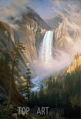 Yellowstone Falls, c.1881 | Bierstadt| Painting Reproduction