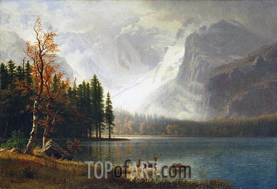 Estes Park, Colorado, Whyte's Lake, c.1877 | Bierstadt | Painting Reproduction